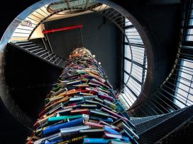 Book tower staircase